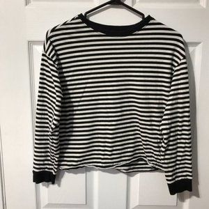 Divided by H&M Striped Crew Neck Long Sleeve Top
